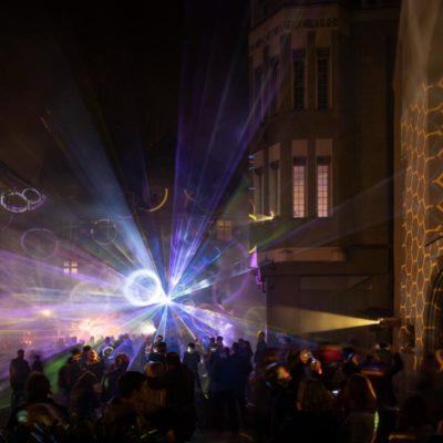 Lichtstadt Feldkirch2018 Artificial Owl Holographisches Windspiel