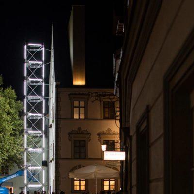 Lichtstadt Feldkirch 2018 Neon Golden Tower